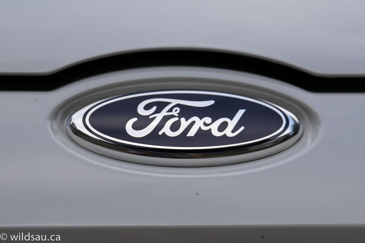 front end Ford badge