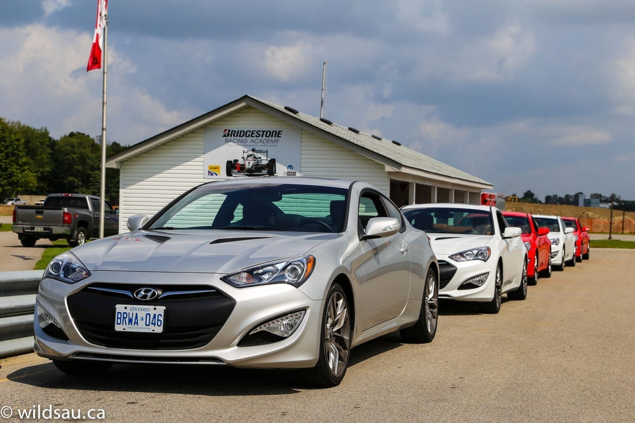 Genesis Coupe line up at track
