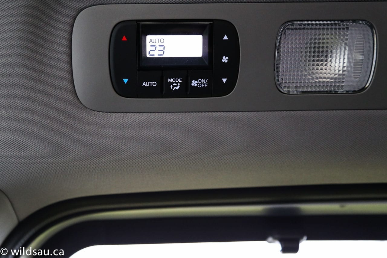 rear climate control panel