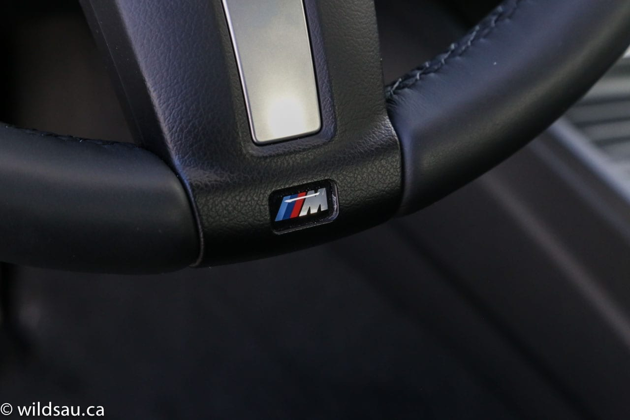 M Sport on steering wheel