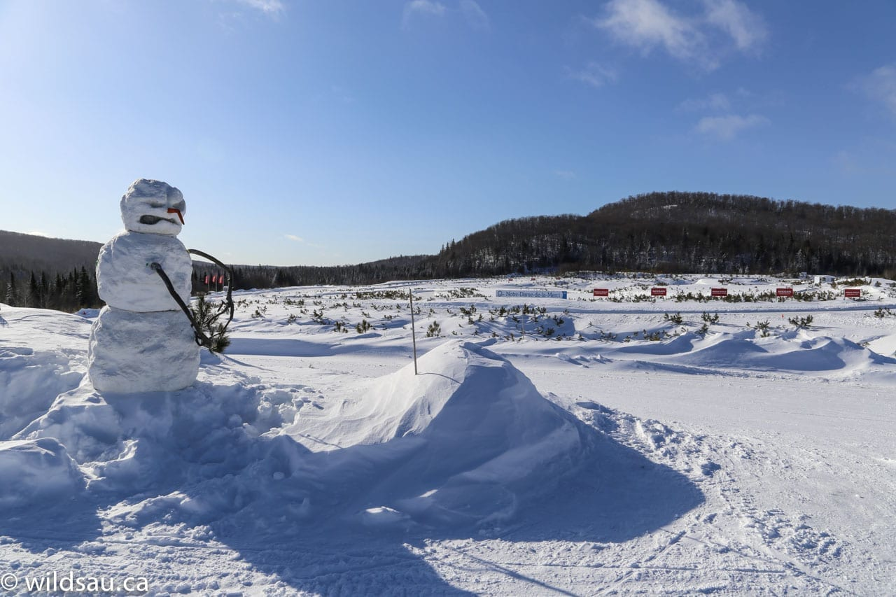 Mecaglisse track with snowman