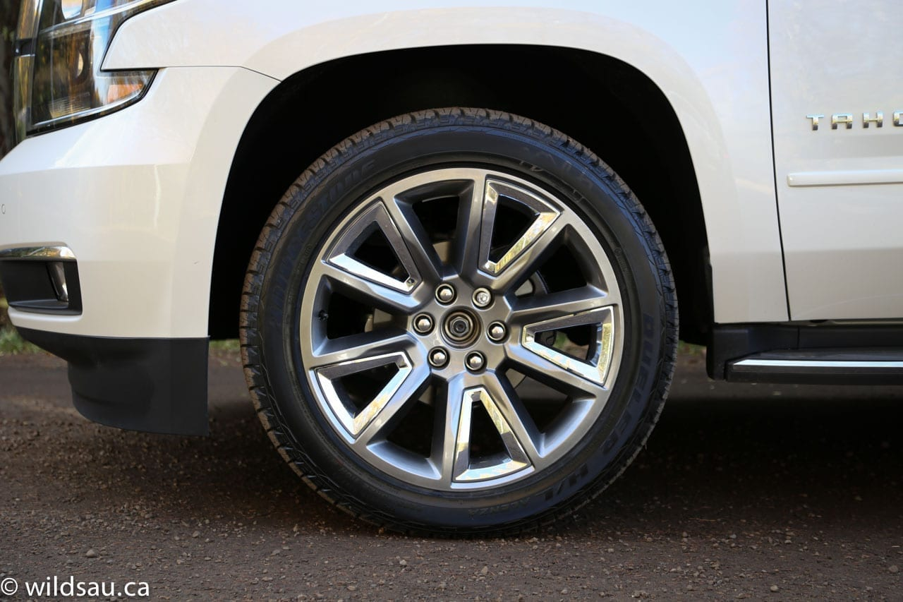 Review 2015 Chevrolet Tahoe Chevy Rear The Whole Package Was Completed By A Set Of Stunning 22 Inch Rims Wearing Almost Comically Huge 285 45 Sized Boots To Say Theyre Dramatic Is An