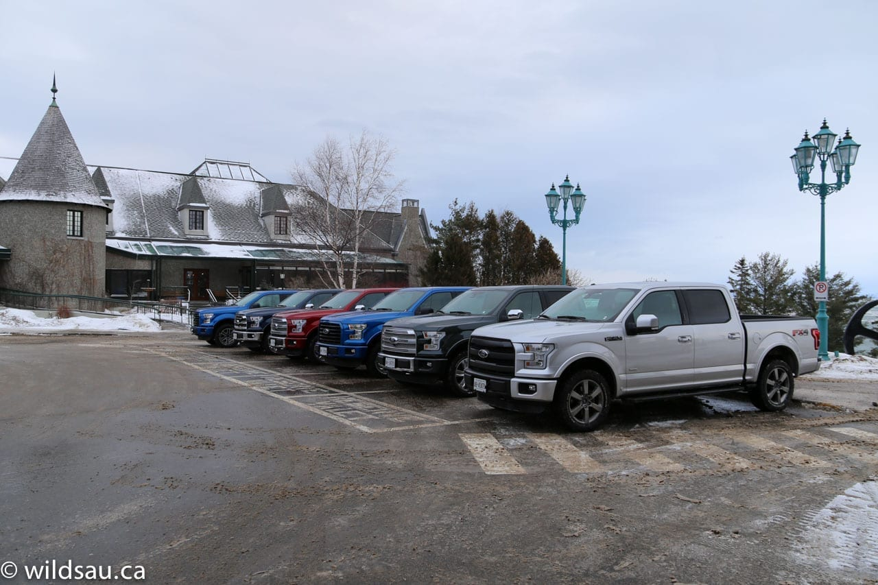 row of F150s at Fairmont