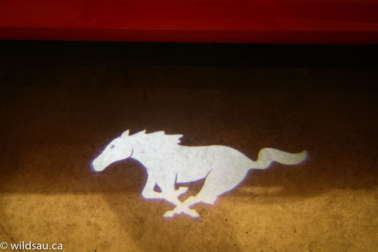 mustang welcome mat