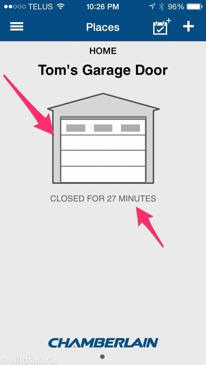 universal garage door opener appProduct Review Chamberlain MyQ Smartphone Garage Opener