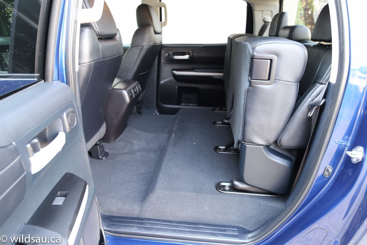 rear seats folded up