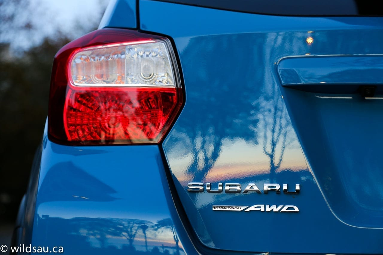 tail light Subaru badge